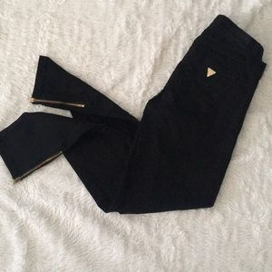 GUESS Black Skinny Jeans Zip Ankle - Size 25